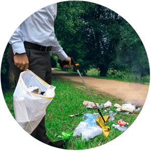 انبر جمع آوری زباله
